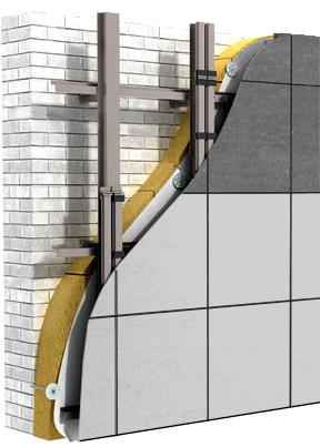 Вентилируемый фасад, конструктив