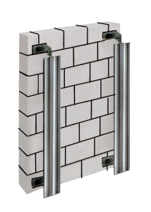 Вентилируемый фасад, вертикальная подсистема